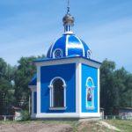 Установка Креста на часовню в честь Казанской иконы Божией Матери